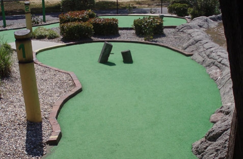Minigolf with golf rules