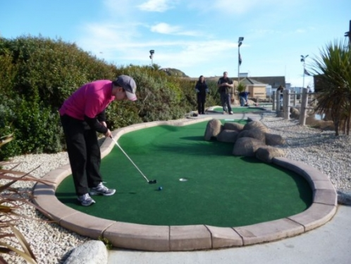 Michael Smith wins the Planet Hastings Crazy Golf Club Open