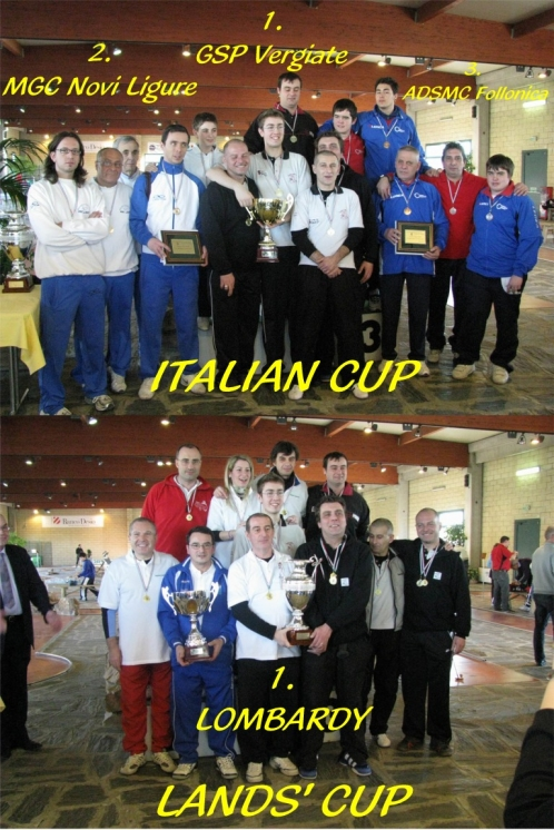 Home Victories and course records in Vedano at Italian Cup/Lands