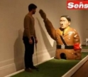 Hitler as Minigolf obstacle