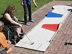 Minigolf evening for handicapped children in Leonding